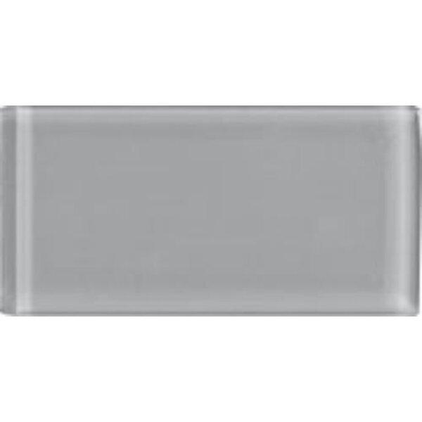 Shimmer 3 x 6 Glass Subway Tile in Smoke by Interceramic
