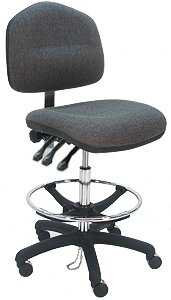 Ergonomic Cleanroom Lab Upholstered Drafting Chair by Symple Stuff