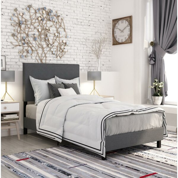 Pulliam Upholstered Panel Bed by Wrought Studio
