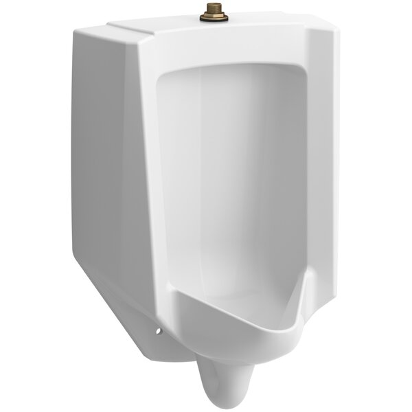 Bardon High-Efficiency Urinal (HEU), Washout, Wall-Hung, 0.13 gpf To 1 gpf Top Spud by Kohler