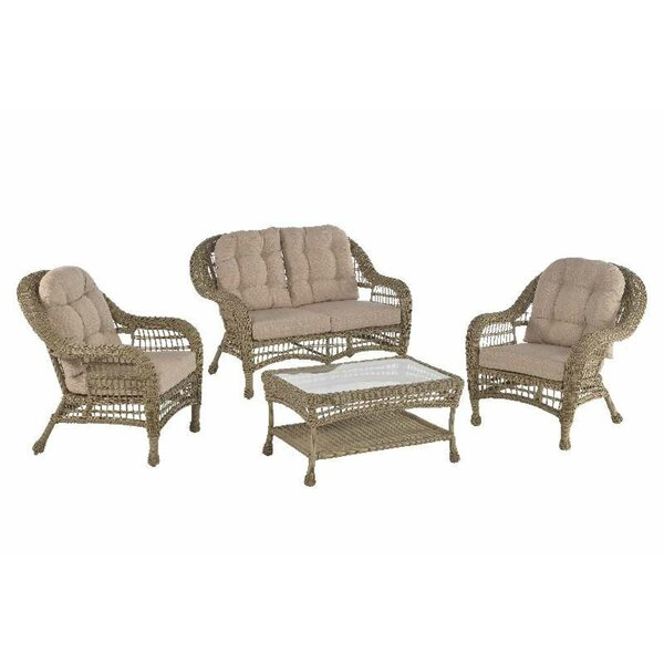 Ophélie 4 Piece Sofa Seating Group with Cushions by One Allium Way