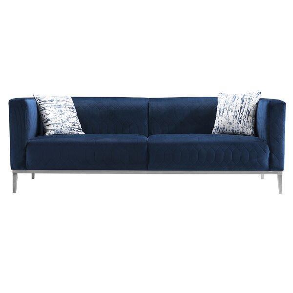 Review Sarana 87'' Square Arms Sofa