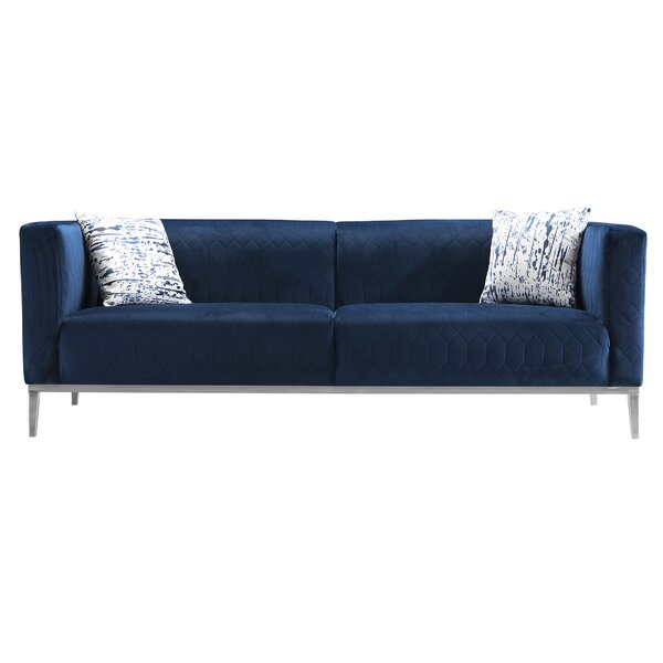 Sarana 87'' Square Arms Sofa By Orren Ellis