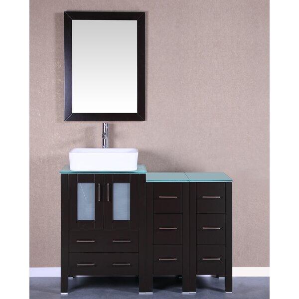Kinchen 48 Single Bathroom Vanity Set with Mirror by Bosconi
