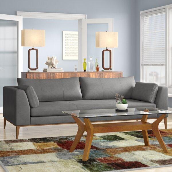 Reid Leather Sofa by Brayden Studio