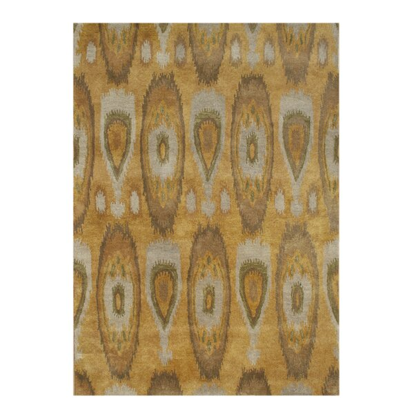 Alliyah Tobacco Brown Ikat Area Rug by James Bond