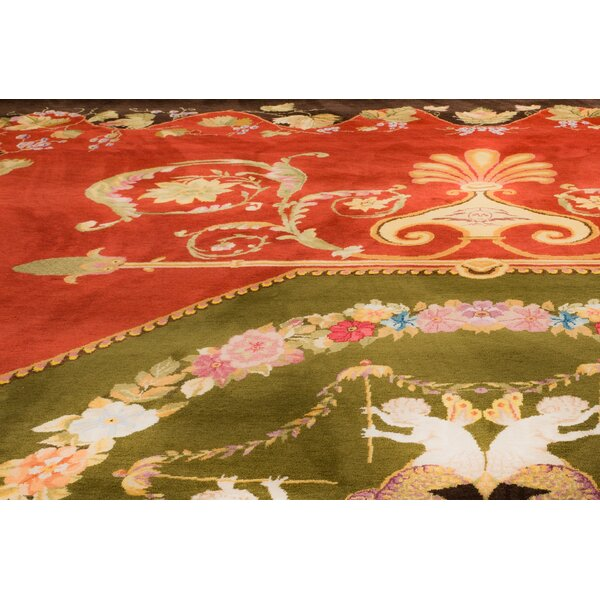 One-of-a-Kind Blassingame Hand-Knotted Wool Red Area Rug by Astoria Grand