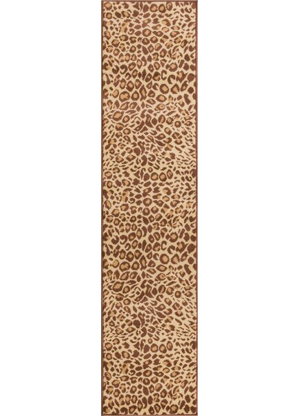 Emeline Cocoa Leopard Brown Animal Print Area Rug