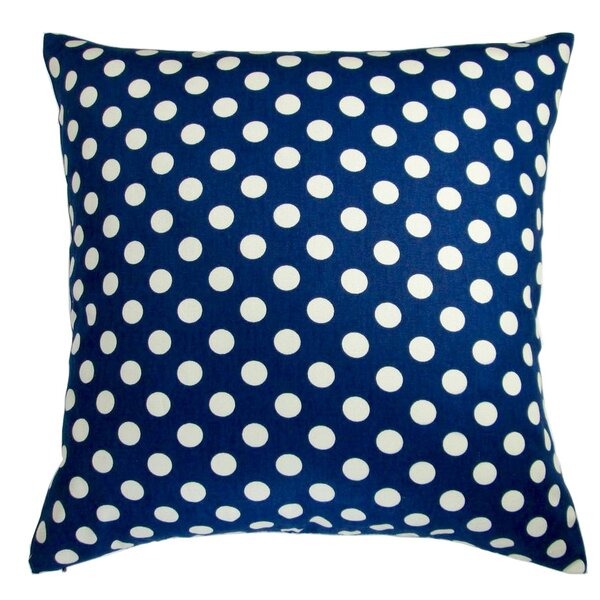 Modern Country Cottage Shabby Elegance Home Polka Dot Medium Dot Pillow by August Grove