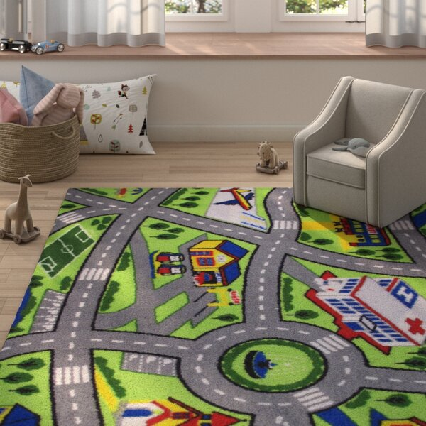 Fornax Driving Fun Area Rug by Zoomie Kids