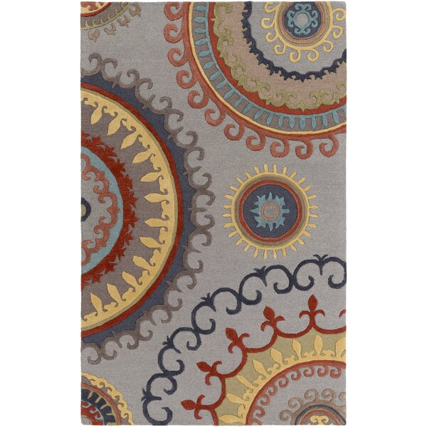Costanzo Hand-Tufted Gray Area Rug by Red Barrel Studio