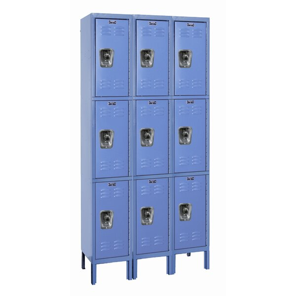 ReadyBuilt 3 Tier 3 Wide Employee Locker by Hallowell
