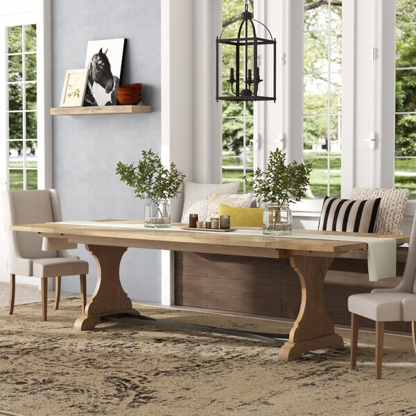 Trestle Extendable Dining Table by Feminine French Country Feminine French Country