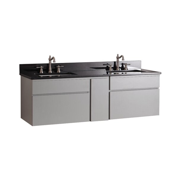 Warden 61 Double Wall Mounted Bathroom Vanity Set by Alcott Hill