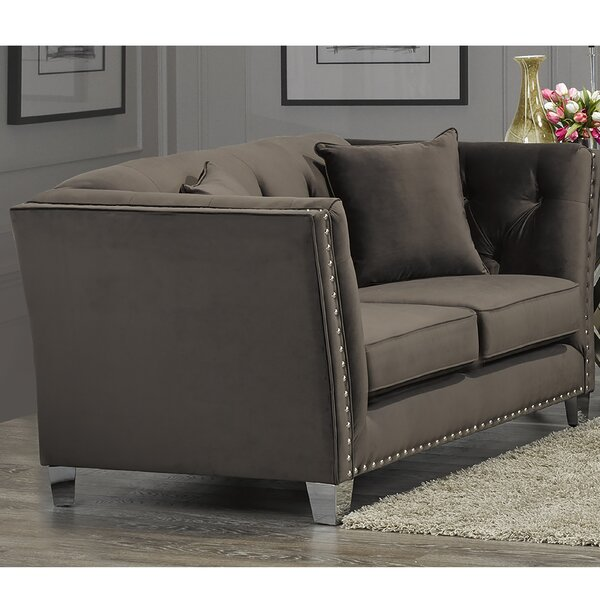 Shept Mallet Loveseat By Everly Quinn