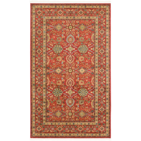 Willow Red Indoor Area Rug by World Menagerie