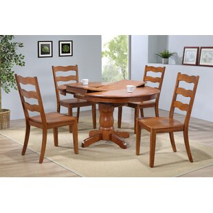 Chretien Transitional 5 Piece Solid Wood Dining Set By August Grove
