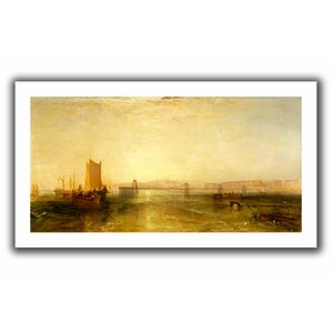 Brighton from the Sea' by William Turner Painting Print on Rolled Canvas by ArtWall