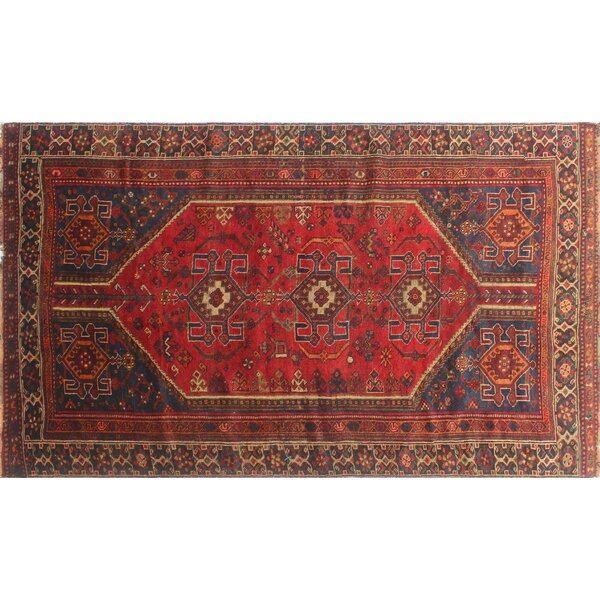 One-of-a-Kind Brook Semi Antique Hand-Knotted Wool Red Area Rug by Isabelline