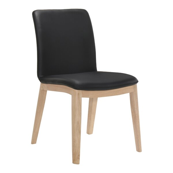 Bargain Shallowater Genuine Leather Upholstered Dining Chair (Set Of 2) By Brayden Studio Comparison