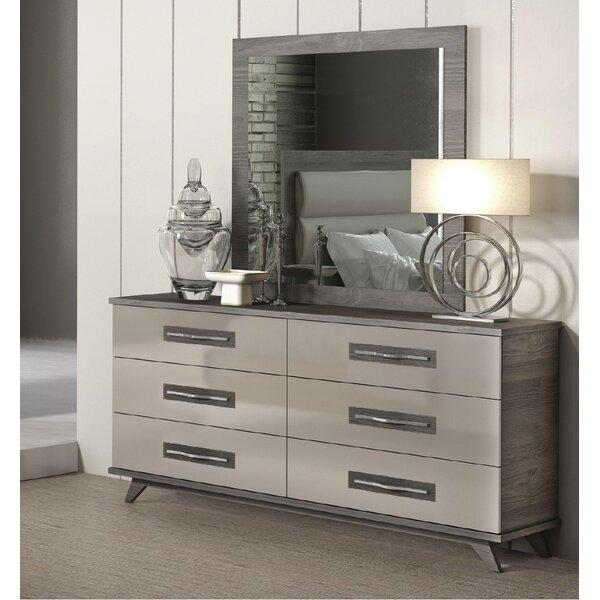 Jeterson 6 Drawer Double Dresser with Mirror by Brayden Studio