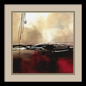 'Symphony in Red and Khaki I' by Laurie Maitland Framed Painting Print by Amanti Art