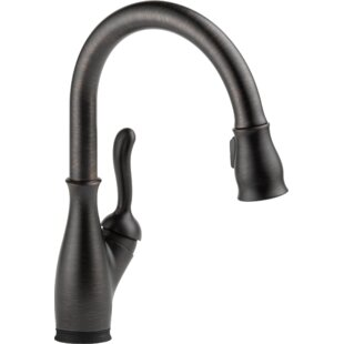 Leland Standard Single Handle Kitchen Faucet with Touch2O® Technology ByDelta