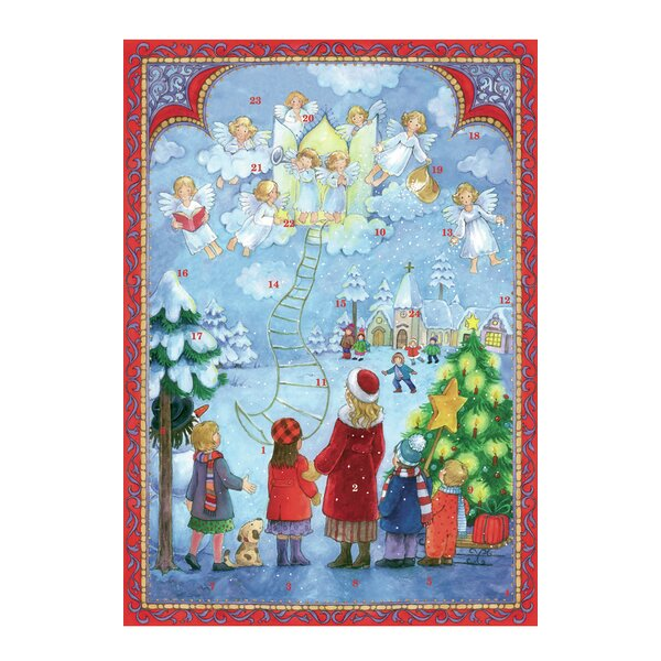 Sellmer Stairway to Heaven Postcard Advent (Set of 2) by Alexander Taron