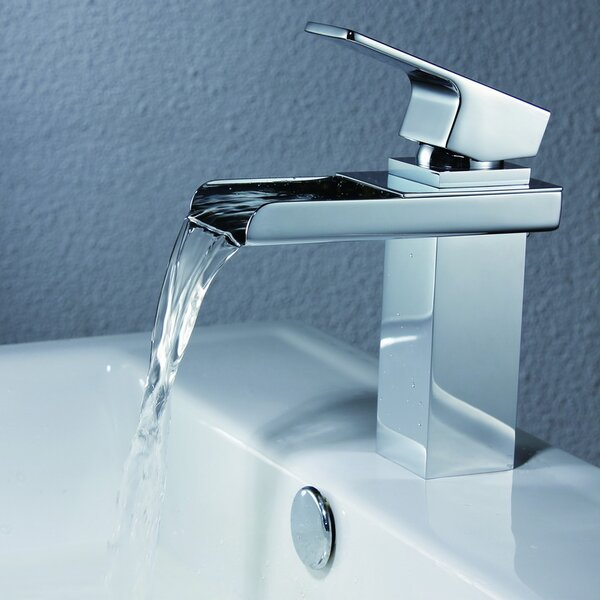 Deck Mount Waterfall Bathroom Sink Faucet with Hoses by Sumerain International Group