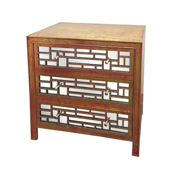 Strout 3 Drawer Accent Chest by House of Hampton