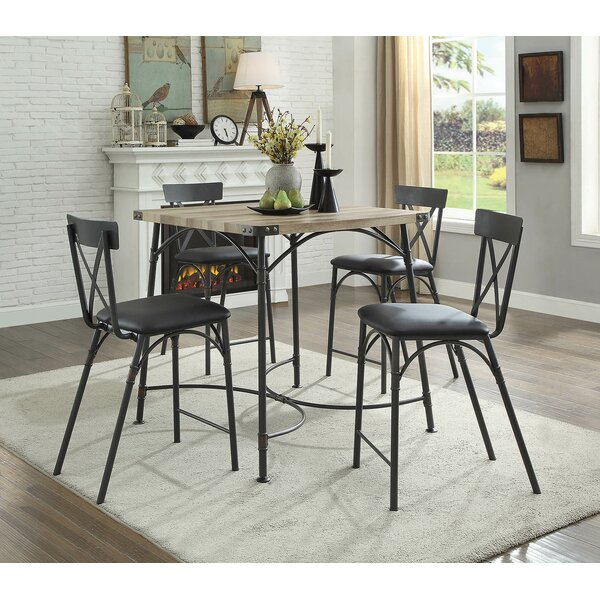 Christofor Counter Height 5 Piece Dining Set by 17 Stories