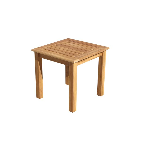 Chancy Courtyard Teak Side Table by Rosecliff Heights