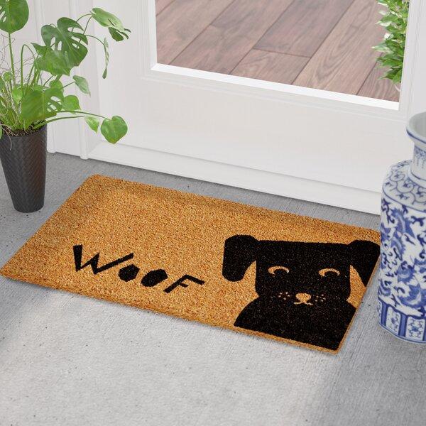 Cavalier Spaniel Poinsettas Doormat By East Urban Home