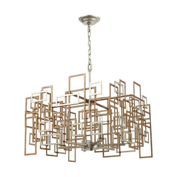 Bekbele 6 - Light Unique Geometric Chandelier By Brayden Studio