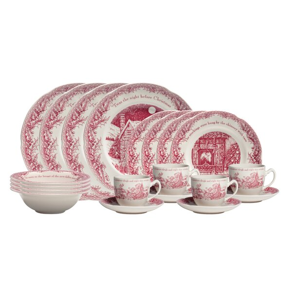 Twas the Night 20 Piece Dinnerware Set, Service for 4 by Johnson Brothers