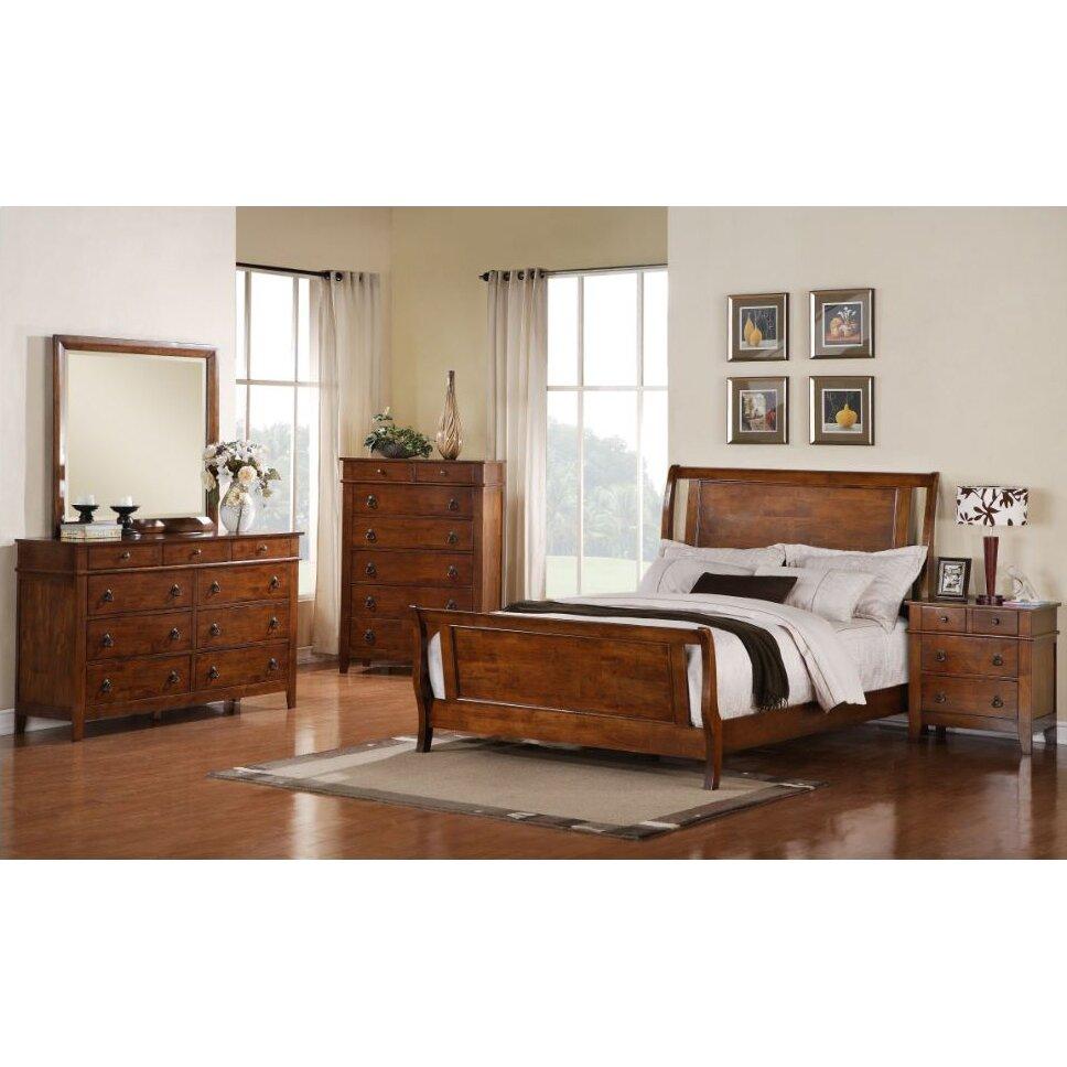 Loon Peak Del City Sleigh 5 Piece Bedroom Set Reviews