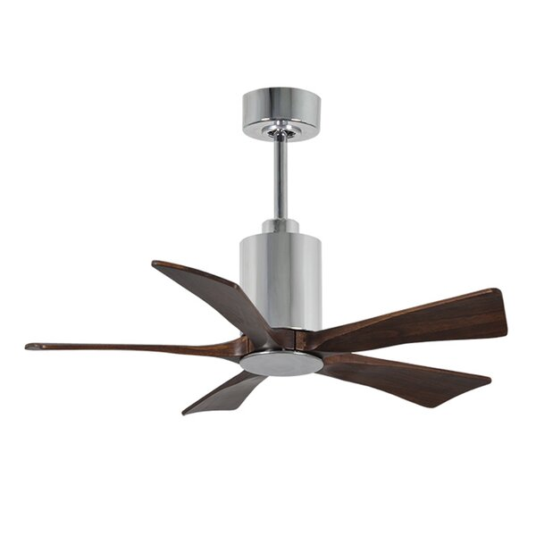 42 Patricia 5-Blade Ceiling Fan with Wall Remote by Matthews Fan Company