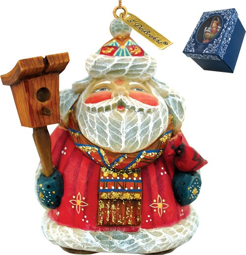 Fifield Feathered Friends Santa Figurine Ornament by The Holiday Aisle