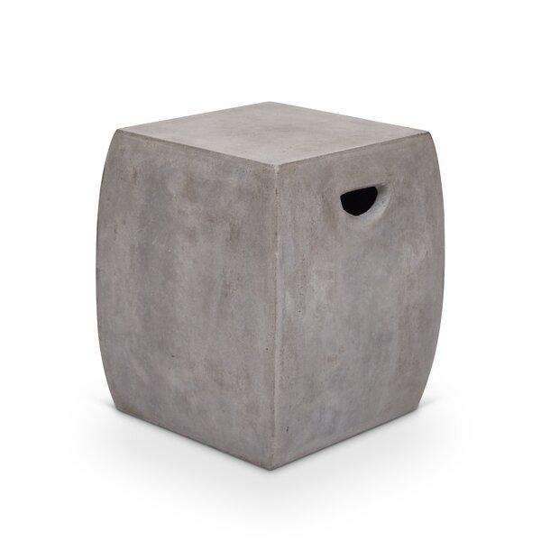 Lorna Cast Concrete Garden Stool by Greyleigh