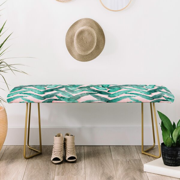 Dash and Ash Faux Leather Bench by East Urban Home