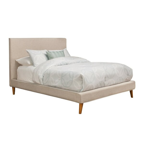 Eastlake Poplar Pine Wood Upholstered Panel Bed by Corrigan Studio