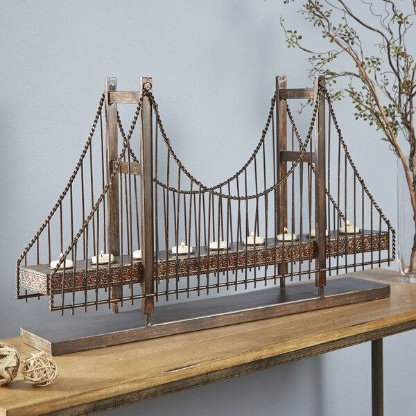 Suspension Bridge Iron Votive by Birch Lane™