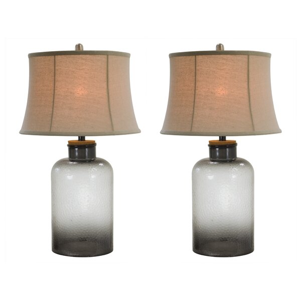 Gouaro Glass 29 Table Lamp (Set of 2) by World Menagerie
