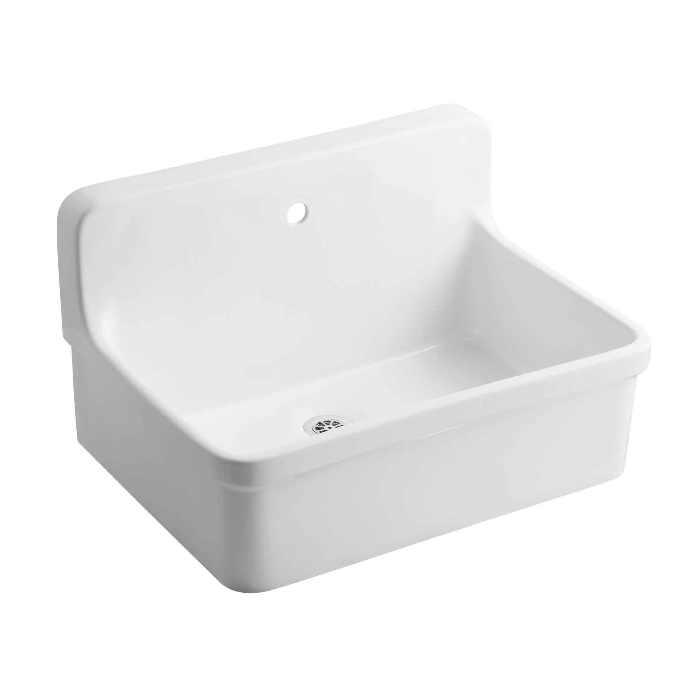 Kohler Gilford 30 X 22 Wall Mounted Laundry Sink Wayfair Ca