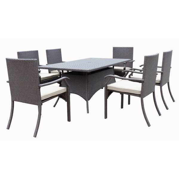 Higuera 7 Piece Dining Set with Cushion by Red Barrel Studio