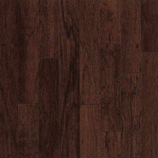 Turlington 3 Engineered Hickory Hardwood Flooring in Molasses by Bruce Flooring