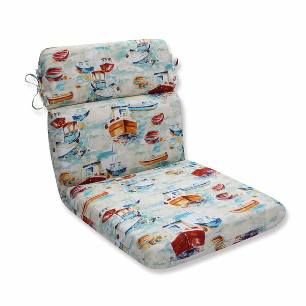 Spinnaker Bay Sailor Indoor/Outdoor Dining Chair Cushion by Pillow Perfect