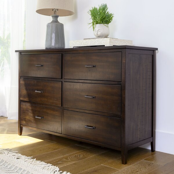 Lakendra 6 Drawer Double Dresser by Loon Peak