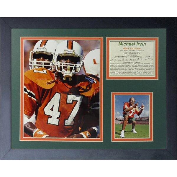 Michael Irvin Miami Hurricanes Framed Memorabilia by Legends Never Die
