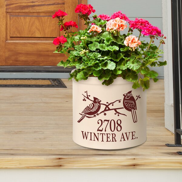 Woodford Personalized Duo Deco Cardinal Ceramic Pot Planter by August Grove